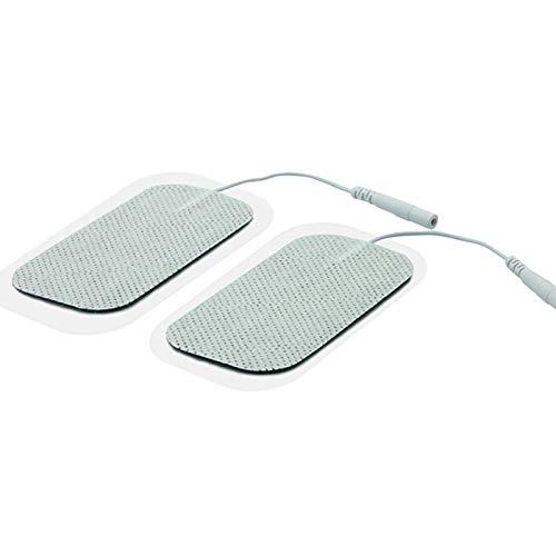 Electrodo Grande Tens EMS Electroterapia Pads Caucho Reutilizables - Electrodo Espalda Almohadillas Autoadhesivas Cuello Piernas, Electrodos Cervicales Facial Gluteos Hombro Manos Rodilla (2.5mm)