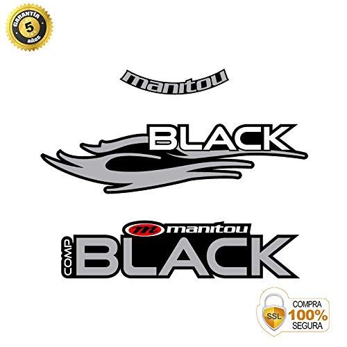 Fahrrad Aufkleber - Fahrrad dekorative Aufkleber - Vinyl Fahrrad Aufkleber Set Manitou Black 26 Aufkleber Gabel BICI