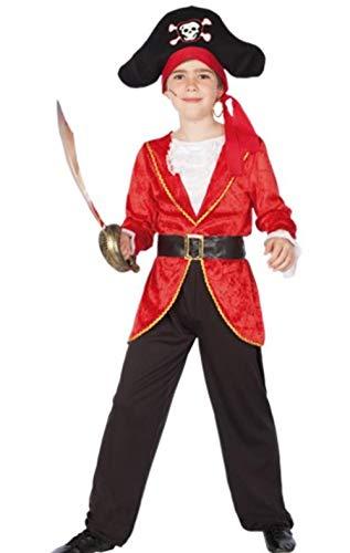 fyasa 706342-t02 Pirate Boy kostuum, rood, medium