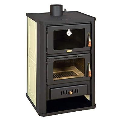 Wood Burning Stove 5+15 kW Cooker Back Boiler Log Burner Woodburning Prity FGW15