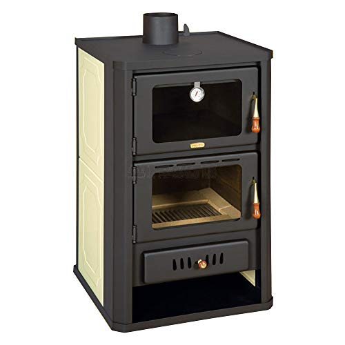 Holzofen 5+15kW Herd Backboiler Log Burner Woodburning Prity FGW15