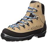 Alpina Sports Women's Montana Eve Backcountry Cross Country Nordic Ski Boots, Brown/Black/Blue, Euro 39