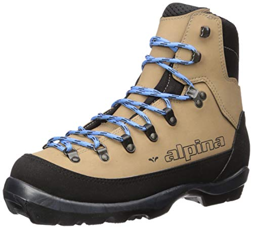 Alpina Sports Women's Montana Eve Backcountry Cross Country Nordic Ski Boots, Brown/Black/Blue, Euro 38