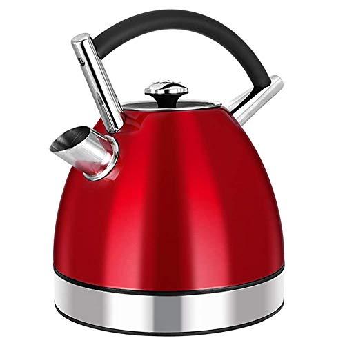 GYC Inicio Hervidor de Agua de Acero Inoxidable | Hervidor Eléctrico | Tetera de 1.7L | Cepillado | Apagado automático y protección contra ebullición | Ideal para Agua Caliente, té o café - 1800W