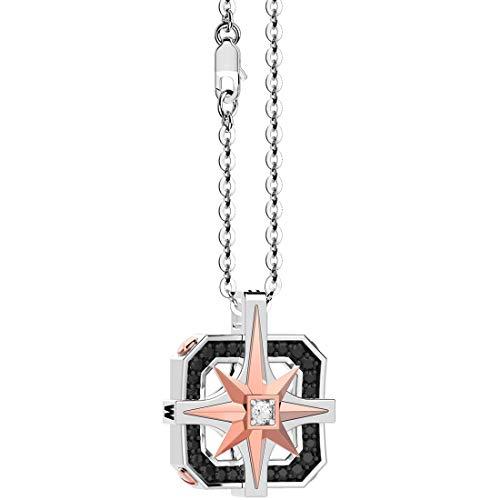 ZANCAN Collana Girocollo con Rosa dei Venti in Oro e Diamanti EC621BR