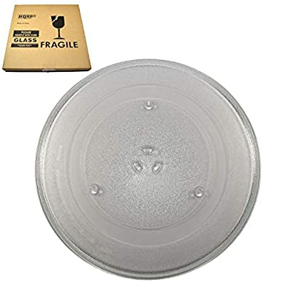 HQRP 14-1/8 inch Glass Turntable Tray fits Samsung DE74-20002B DE74-20002A DE74-20002 1150157 MC7698W ME1460SB MG14H3020CM MG7980W MS1440WB MS1470WA MS14K6000AG Microwave Oven Cooking Plate 360mm