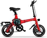 Bicicleta eléctrica de nieve, Bicicletas eléctricas rápidas for adultos de 14 pulgadas de bicicletas de montaña eléctrica portable for el adulto con 36V de iones de litio E-Bici 400W motor de gran alc