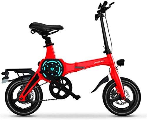 Bicicleta de montaña eléctrica, Bicicletas eléctricas rápidas for adultos de 14 pulgadas de bicicletas de montaña eléctrica portable for el adulto con 36V de iones de litio E-Bici 400W motor de gran a
