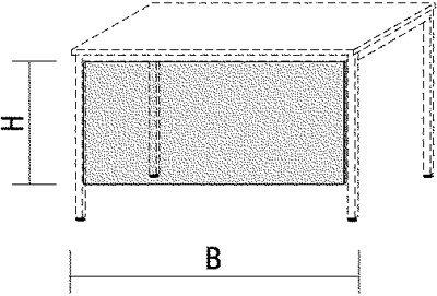 Schreibtisch-Sichtblende, BxH 1600x520 mm, lichtgr au