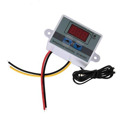 Jeanoko Interruptor de termostato antiinterferencias de Alta precisión Estable a Prueba de Agua para Ajuste de Temperatura para el área de incubación(110-220V/1500W)