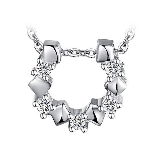 Roapk Collar Colgante De Herradura Gargantilla De Plata Esterlina 925 Cadena De Joyería para Mujer