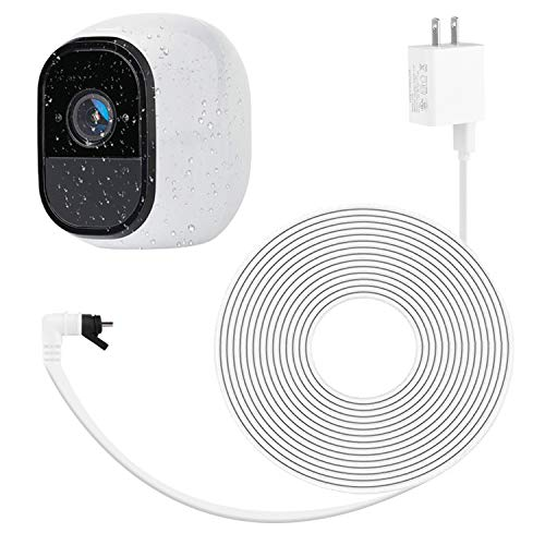 ALERTCAM Weatherproof Outdoor Quick Charge 3.0 Power Adapter for Arlo Pro and Arlo Pro 2, with 30Ft/9m Long and Flat Cable to Continuously Charging Your Arlo Camera