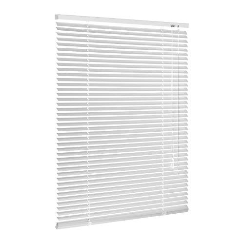 Ventanara Jalousie Aluminium Weiß inklusive Montagematerial mit und ohne Bohren 80 x 160 cm