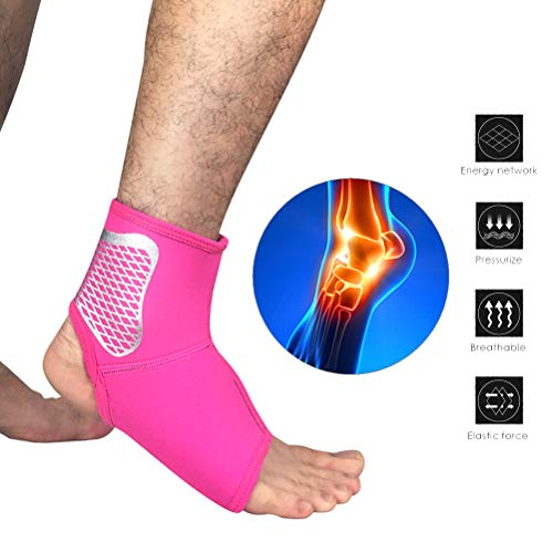 Sykasm Professionelle Sport-Knöchelmanschette Kompressions-Fußsocken, für den Außenbereich, Basketball, Fußball, Klettern Rosys