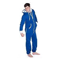 Royal Blue Hoodie Jumpsuit Hooded Onesie Loungewear for Men & Women – Unisex