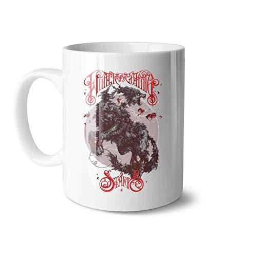 N\A Juego de Tronos House-Posters-Created-by-Ivan-Belikov Tazas de té de cerámica Blanca adecuadas para Tazas Personalizadas de Halloween de Gran tamaño