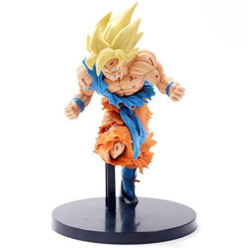 DEERO Dragon Ball Z Son Goku Figura de acción Super Saiyan Assault PVC Dragon Ball Z Modelo DBZ Colección Modelo (A OPP Bag)