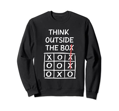 Think Outside the Box - Jeu Tik Tak Toe Sweatshirt