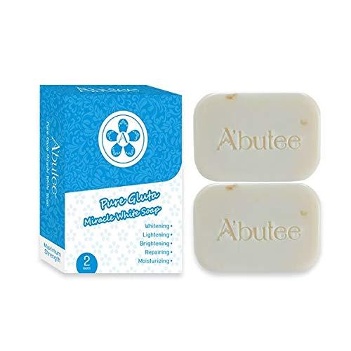ARBUTEE | Pure Glutathione Skin Brightening Whipp Soap for Glowing & Radiance Skin, Dark Spots, Rejuvenate, Uneven Skin Tone | Maximum Strength, SLS-free, Paraben-free(Pure Gluta)