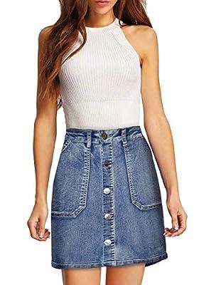 Lexi Womens Super Comfy Perfect Fit Stretch Denim Skirt