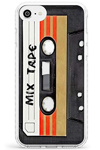 Case Warehouse Retro Mixtape Impact Hülle kompatibel mit iPhone 7/8 / SE TPU Schutz Light Phone Tasche mit Retro Technologie Hipster Kassette Remix