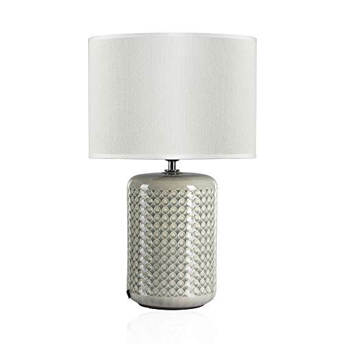 Pauleen Go for Glow Tischleuchte max. 20W Tischlampe für E27 Lampen Nachttischlampe Grün Beige 230V Keramik/Stoff ohne Leuchtmittel 48020