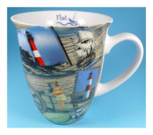 MUG Tasse Sylt 10 x 8,5 cm Leuchtturm Maritim Rettungsring Schiff See Deko GCG 860
