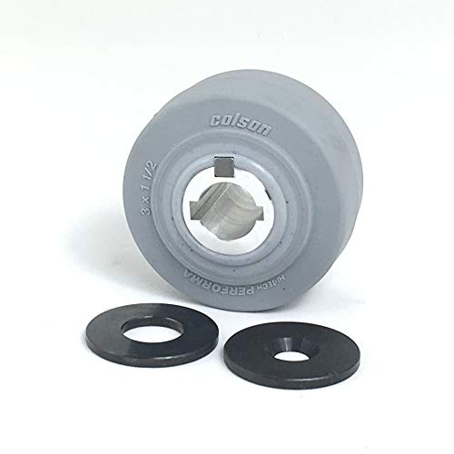 3-inch Drive Wheel with 3/4-inch Keyed Hubs