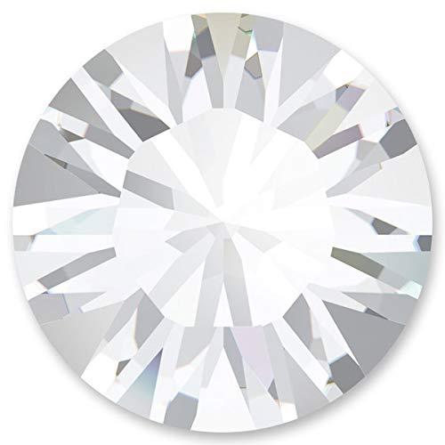 Swarovski 50 Stück Elements 1028 Chaton, Crystal, PP11 (Ø ca. 1,70-1,80 mm), Strasssteine zum Einkleben oder Fassen