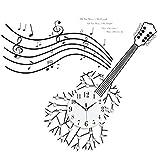 Q-HL Reloj de Pared Reloj de Pared de Guitarra Creativa Reloj de Sala de Hierro Forjado Reloj de Alarma electrónico de Moda Reloj de Cuarzo de Dormitorio