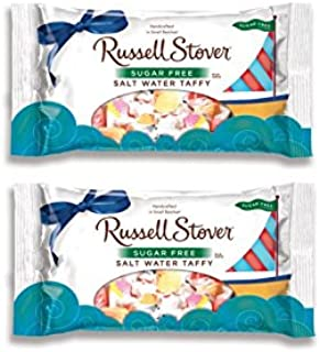 Russell Stover Sugar Free Salt Water Taffy Candy, 2 PACK, 10 Ounces Each