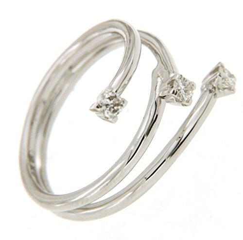 Trilogy in oro bianco 750 18 kt e diamanti - Orolab N216