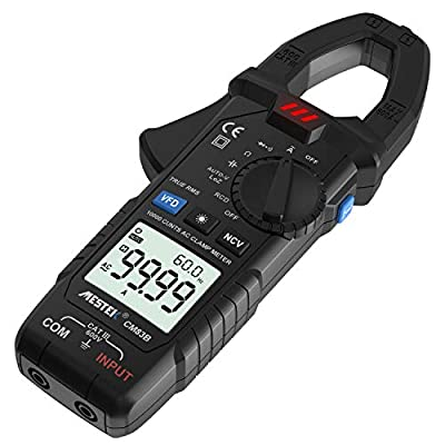 Digital Clamp Meter, Mestek AC Current 600A True RMS 10000 Counts Digital Multimeter with LOZ/auto-V, RCD/GFCI Function, Suitable for Family, Professional Electrician and Enthusiasts