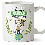 MUGFFINS Taza Abuelo - El Mejor Abuelo del Mundo - Taza Desayuno/Idea Regalo Original/Día del Padre...