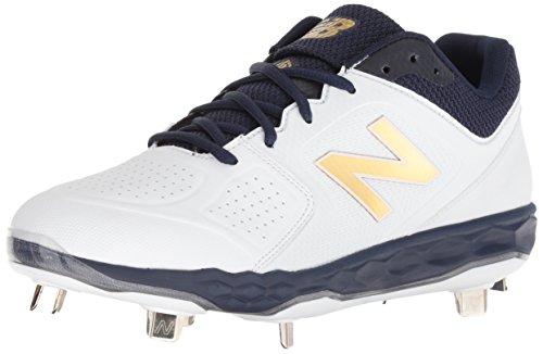 New Balance womens Fresh Foam Velo V1 Metal Softball Shoe, Navy/White, 7.5 US
