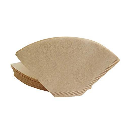 Luckyzl Kaffeefilterpapier, Kein Bleichmittel, Kaffeekanne Filterpapier, 1-2 Portionen, 40 Blatt, Fächerform