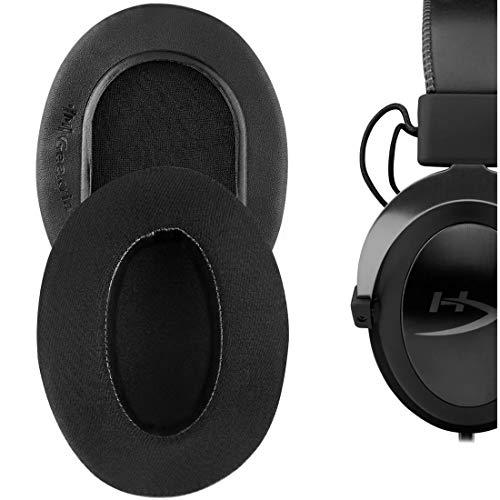 Geekria Sport Cooling Gel Ear Pads for HyperX Cloud II, 2, Mix, Alpha, Cloud Flight, Stinger, Revolver S Headphone Ear Pad/Ear Cushion/Ear Cups/Ear Cover (Extra Thick/Black)