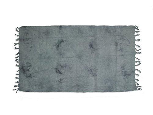 Soleil d'ocre FUTA de algodón 100x200 cm Tie and Dye Gris