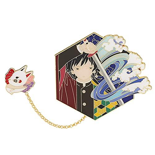 AKlamater Broches de aleación de metal con diseño de asesino demonio, diseño de anime Kamado periférico, con botones y broches, colección de regalo para aficionados al anime (multi2)