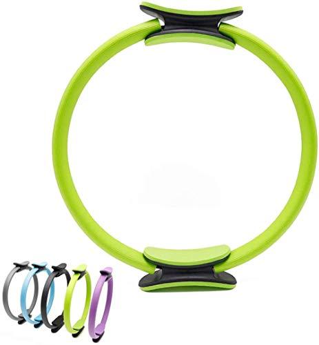 BriskyM Pilates Ring Unbreakable Fitness Yoga Ring Kraftwiderstand Übungskreis für Shaping und Fitness (Grün, 1)