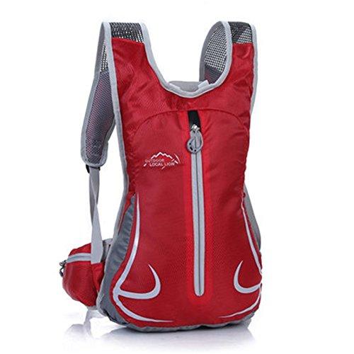 SINCERE@ Équitation sac à dos mâle sac casual épaule femme sac sac de sport vélo sac à dos à dos en plein air ultra-léger (Rouge)
