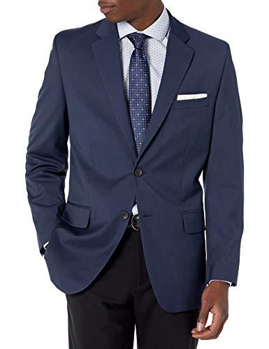 Haggar Men's Stretch Classic Fit 2-Button Center Vent Suit Separate Coat, Navy, 50 x R