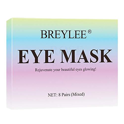 NA. Shaoyanger 8 Pairs Mixed Hyaluronic Acid Vitamin C Eye Mask Fade Dark Circles Brighten Skin Moisturizing Hydrating Firming Anti-Aging Essence Patches