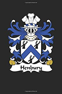 Henbury: Henbury Coat of Arms and Family Crest Notebook Journal (6 x 9 - 100 pages)