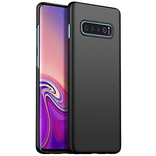 Capa Capinha Protetora Para Galaxy S10 Plus Tela De 6.4 Polegadas Case Acrílica Fosca Ultra Fina, Luxuosa Premium Super Diferente - Danet (Preta)