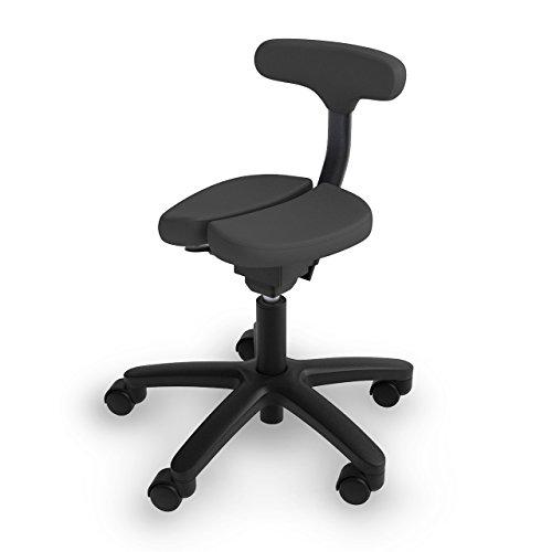 アーユル・チェアー キャスタータイプ オクトパス ブラック 【骨盤を立て坐骨で座る 腰と姿勢のサポート椅子 デスクワーク 集中できる学習環境 特許取得】