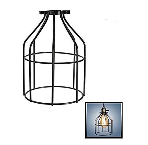 Eisendraht-Glühbirnenkäfig, Weiß, industrieller Vintage-Lampenhalter, Hängelampe, Lampenschirm, Klemmschutz, 1 Stück., 7.4