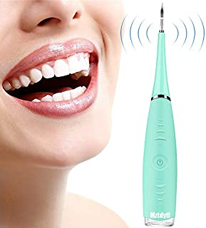 Household Electric Dental Calculus Remover Rechargeable Scraper Plaque Tartar Remover Teeth Cleaning Tools for Oral Care - Green