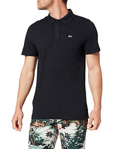 Tommy Jeans Tjm Essential Jersey Polo, Nero Htr, XL Uomo