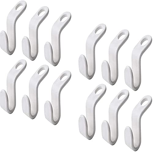 wgkgh 12pcsClothing Rack Extension Hook, Smooth Hanger Connector, Space Saver Closet Hanger,for Space Saver Clothes Organizer